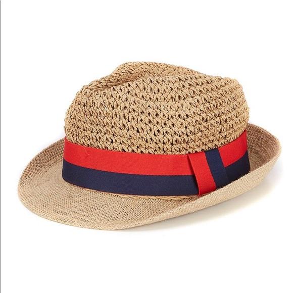 00118f210 NWT Anna & Ava Short Brim Fedora Sun Hat NWT